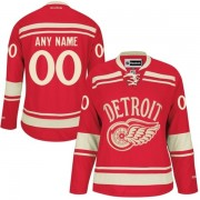 Reebok Detroit Red Wings Women's Customized Authentic Red 2014 Winter Classic Jersey