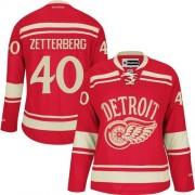 Detroit Red Wings #40 Women's Henrik Zetterberg Reebok Authentic Red 2014 Winter Classic Jersey