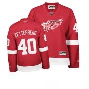Detroit Red Wings #40 Women's Henrik Zetterberg Reebok Authentic Red Home Jersey