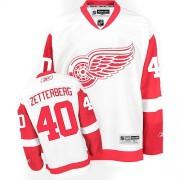 Detroit Red Wings #40 Women's Henrik Zetterberg Reebok Authentic White Away Jersey