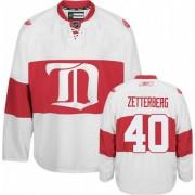 Detroit Red Wings #40 Women's Henrik Zetterberg Reebok Authentic White Third Winter Classic Jersey