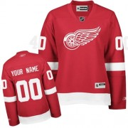 Reebok Detroit Red Wings Women's Customized Authentic Red Home Jersey