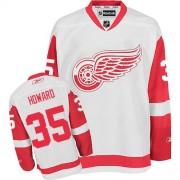 Detroit Red Wings #35 Men's Jimmy Howard Reebok Premier White Away Jersey