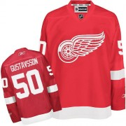 Detroit Red Wings #50 Men's Jonas Gustavsson Reebok Authentic Red Home Jersey