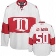 Detroit Red Wings #50 Men's Jonas Gustavsson Reebok Authentic White Third Winter Classic Jersey