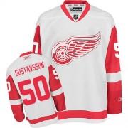 Detroit Red Wings #50 Men's Jonas Gustavsson Reebok Premier White Away Jersey