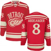Detroit Red Wings #8 Men's Justin Abdelkader Reebok Authentic Red 2014 Winter Classic Jersey