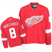 Detroit Red Wings #8 Men's Justin Abdelkader Reebok Authentic Red Home Jersey