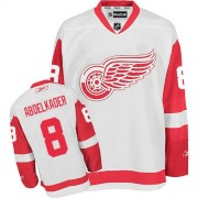 Detroit Red Wings #8 Men's Justin Abdelkader Reebok Authentic White Away Jersey