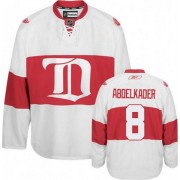 Detroit Red Wings #8 Men's Justin Abdelkader Reebok Authentic White Third Winter Classic Jersey