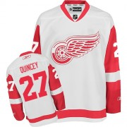 Detroit Red Wings #27 Men's Kyle Quincey Reebok Authentic White Away Jersey