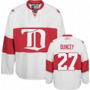 Detroit Red Wings #27 Men's Kyle Quincey Reebok Authentic White Third Winter Classic Jersey