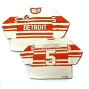 Detroit Red Wings #5 Men's Nicklas Lidstrom CCM Premier White Throwback Jersey
