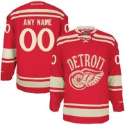 Reebok Detroit Red Wings Men's Customized Authentic Red 2014 Winter Classic Jersey