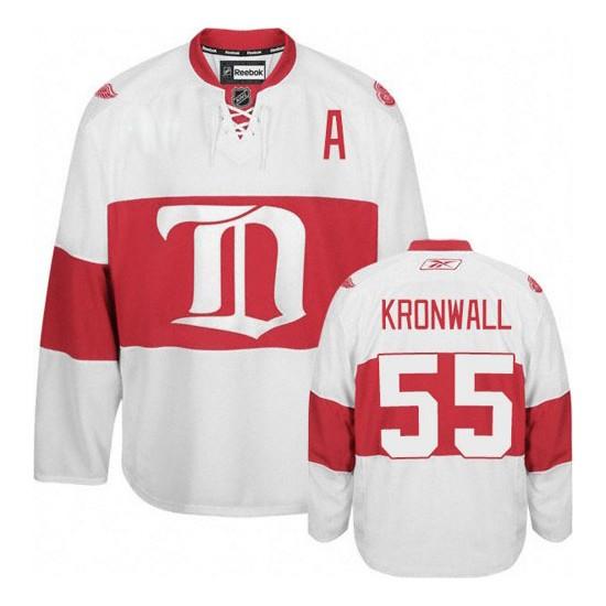 Detroit Red Wings #55 Men's Niklas Kronwall Reebok Premier White Third Winter Classic Jersey