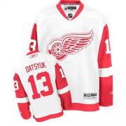 Detroit Red Wings #13 Women's Pavel Datsyuk Reebok Premier White Away Jersey