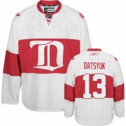 Detroit Red Wings #13 Women's Pavel Datsyuk Reebok Premier White Third Winter Classic Jersey