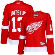 Detroit Red Wings #13 Women's Pavel Datsyuk Reebok Authentic Red Home Jersey
