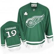Detroit Red Wings #19 Men's Steve Yzerman Reebok Authentic Green St Patty's Day Jersey