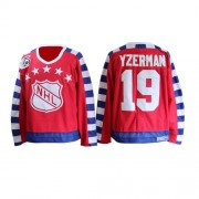 Detroit Red Wings #19 Men's Steve Yzerman CCM Authentic Red All Star Throwback 75TH Jersey