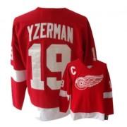 Detroit Red Wings #19 Men's Steve Yzerman CCM Premier Red Throwback Jersey