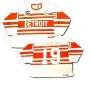 Detroit Red Wings #19 Men's Steve Yzerman CCM Authentic White Throwback Jersey