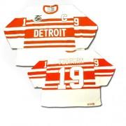 Detroit Red Wings #19 Men's Steve Yzerman CCM Premier White Throwback Jersey