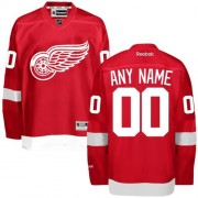 Reebok Detroit Red Wings Men's Customized Authentic Red Home Jersey