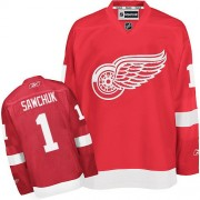 Detroit Red Wings #1 Men's Terry Sawchuk Reebok Authentic Red Home Jersey