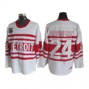 Detroit Red Wings #24 Men's Bob Probert CCM Premier White Throwback Jersey