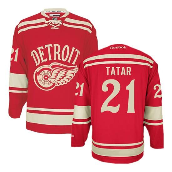 Detroit Red Wings #21 Men s Tomas Tatar Reebok Premier Red 2014 Winter Classic  Jersey c20587b8556