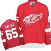 Detroit Red Wings #65 Men's Danny DeKeyser Reebok Authentic Red Home Jersey