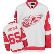 Detroit Red Wings #65 Men's Danny DeKeyser Reebok Authentic White Away Jersey