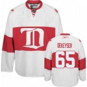 Detroit Red Wings #65 Men's Danny DeKeyser Reebok Authentic White Third Winter Classic Jersey