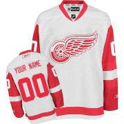 Reebok Detroit Red Wings Men's Customized Authentic White Away Jersey