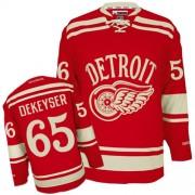 Detroit Red Wings #65 Men's Danny DeKeyser Reebok Premier Red 2014 Winter Classic Jersey