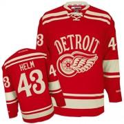 Detroit Red Wings #43 Men's Darren Helm Reebok Premier Red 2014 Winter Classic Jersey