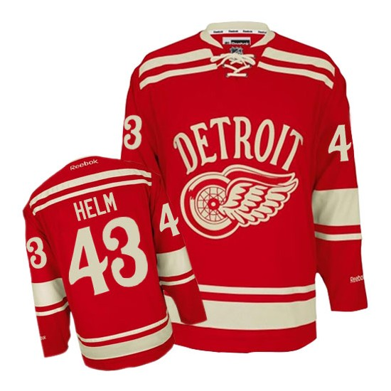 Detroit Red Wings #43 Men s Darren Helm Reebok Premier Red 2014 Winter  Classic Jersey bfdf59d1e