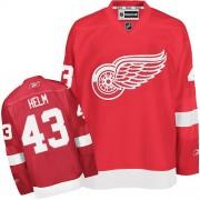 Detroit Red Wings #43 Men's Darren Helm Reebok Premier Red Home Jersey