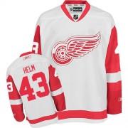 Detroit Red Wings #43 Men's Darren Helm Reebok Premier White Away Jersey