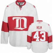 Detroit Red Wings #43 Men's Darren Helm Reebok Premier White Third Winter Classic Jersey