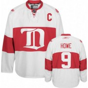 Detroit Red Wings #9 Men's Gordie Howe Reebok Authentic White Third Winter Classic Jersey