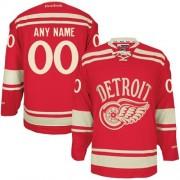 Reebok Detroit Red Wings Men's Customized Premier Red 2014 Winter Classic Jersey
