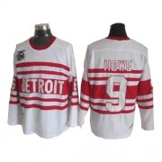 Detroit Red Wings #9 Men's Gordie Howe CCM Authentic White Throwback Jersey
