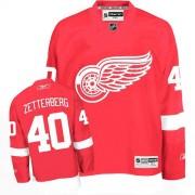 Detroit Red Wings #40 Men's Henrik Zetterberg Reebok Authentic Red Home Jersey