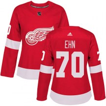 Detroit Red Wings Women's Christoffer Ehn Adidas Authentic Red Home Jersey