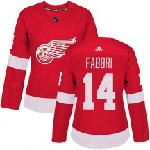 Detroit Red Wings Women's Robby Fabbri Adidas Authentic Red Home Jersey