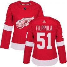 Detroit Red Wings Women's Valtteri Filppula Adidas Authentic Red Home Jersey