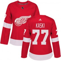 Detroit Red Wings Women's Oliwer Kaski Adidas Authentic Red Home Jersey