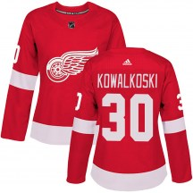 Detroit Red Wings Women's Justin Kowalkoski Adidas Authentic Red Home Jersey